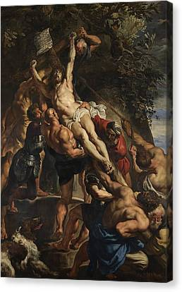Raising Of The Cross Canvas Print by Peter Paul Rubens