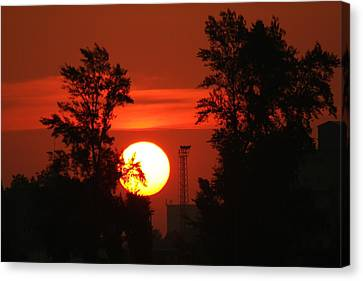 Rising Sun  Canvas Print by Explorer Lenses Photography