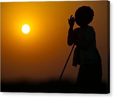 Rajasthan Silhouette Canvas Print