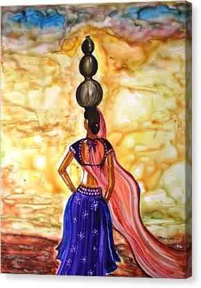 Rajasthani Lady-allure Canvas Print