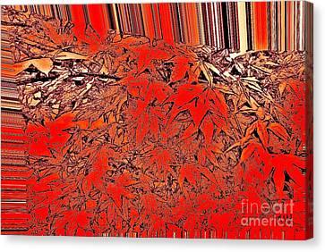Raking Leaves Canvas Print by Marsha Heiken