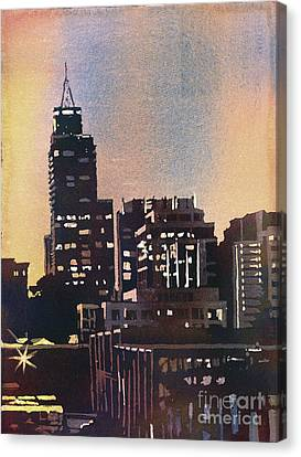 Raleigh Skyscrapers Canvas Print by Ryan Fox