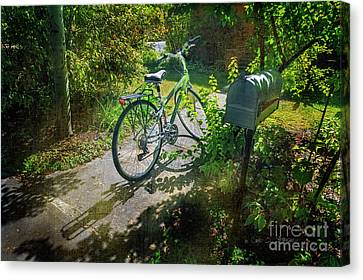 Canvas Print featuring the photograph Raleio Bicycle by Craig J Satterlee