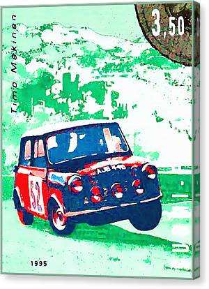 Ralley Car Of Timo Makinen Canvas Print