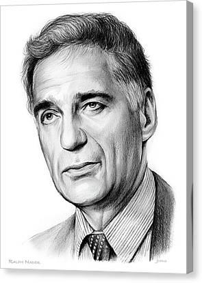 Ralph Nader Canvas Print by Greg Joens
