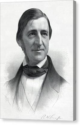 Ralph Waldo Emerson 1803-82 From An Canvas Print