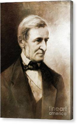 Ralph Waldo Emerson, Literary Legend By Mary Bassett Canvas Print