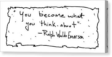Ralph Waldo Emerson Canvas Print
