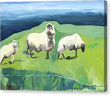 Ram On A Hill Canvas Print