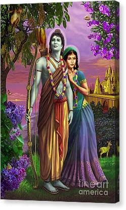 Rama And Sita  Canvas Print