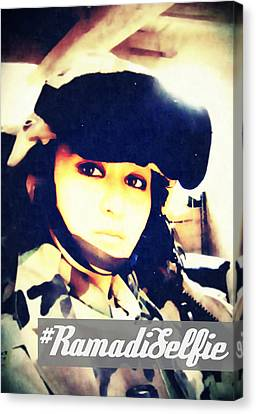 Ramadi Selfie Canvas Print by Michelle Dallocchio