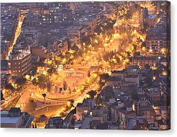 Canvas Print featuring the photograph Rambla Del Carmel Barcelona by Marek Stepan