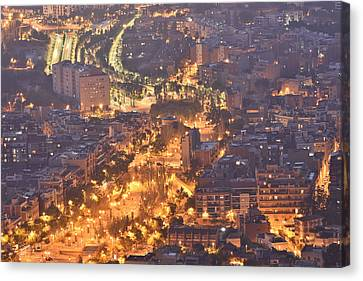 Canvas Print featuring the photograph Rambla Del Carmel Barcelona Spain by Marek Stepan