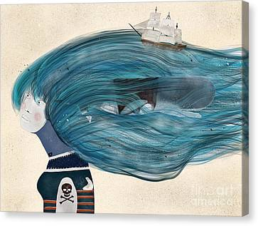 Canvas Print featuring the painting Ramona by Bri B
