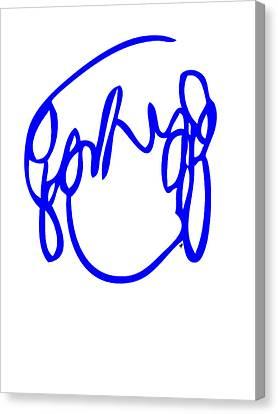 Scott Pilgrim Canvas Print - Ramona Flowers Blue - Scott Pilgrim Vs The World by Paul Telling
