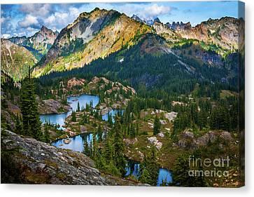 Lake Chelan Canvas Print - Rampart Lakes by Inge Johnsson