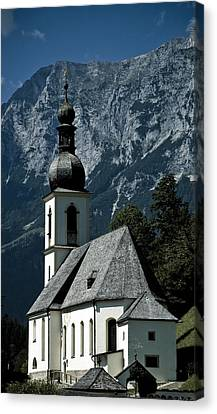 Ramsau Church Canvas Print by Frank Tschakert