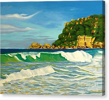 Ramy Base Beach Canvas Print by Milagros Palmieri