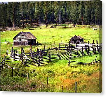 Ranch Land Canvas Print by Marty Koch