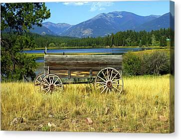 Ranch Wagon 3 Canvas Print by Marty Koch