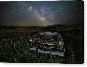 Abandoned Cars Canvas Print - Ranch Wagon  by Aaron J Groen