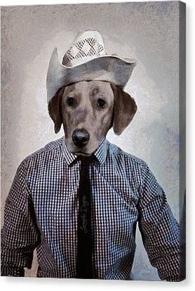 Rancher Dog Canvas Print by Leonardo Digenio