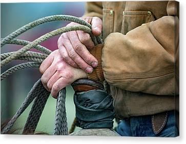Ranching Hands Canvas Print by Todd Klassy