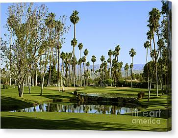 Rancho Mirage Golf Course Canvas Print by Nina Prommer