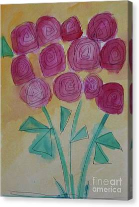 Canvas Print featuring the painting Randi's Roses by Kim Nelson