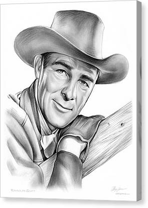 Western Canvas Print - Randolph Scott by Greg Joens