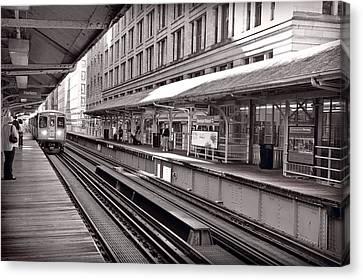 Randolph Street Station Chicago Canvas Print by Steve Gadomski