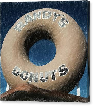 Randy's Donuts - 1 Canvas Print by Stephen Stookey