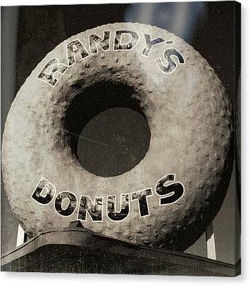 Randy's Donuts - 10 Canvas Print by Stephen Stookey