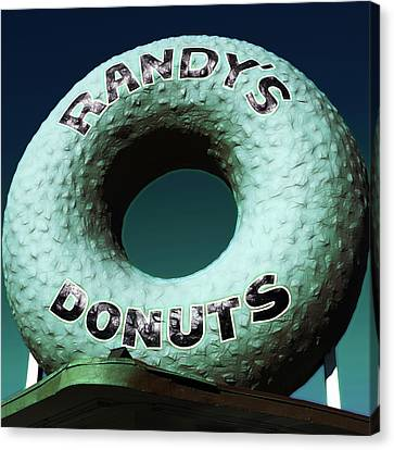 Randy's Donuts - 12 Canvas Print by Stephen Stookey