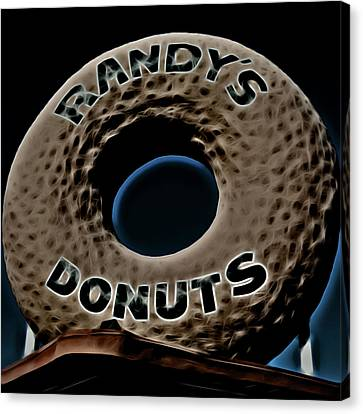 Randy's Donuts - 13 Canvas Print by Stephen Stookey
