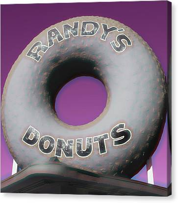 Randy's Donuts - 14 Canvas Print by Stephen Stookey