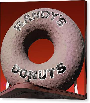 Randy's Donuts - 3 Canvas Print by Stephen Stookey