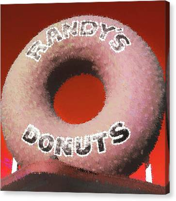 Randy's Donuts - 4 Canvas Print by Stephen Stookey