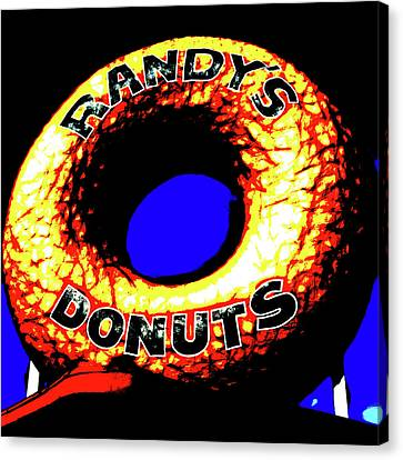 Randy's Donuts - 6 Canvas Print by Stephen Stookey