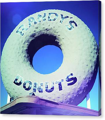 Randy's Donuts - 8 Canvas Print by Stephen Stookey