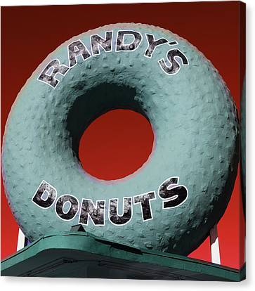 Randy's Donuts - 9 Canvas Print by Stephen Stookey