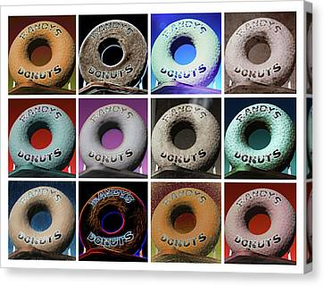 Ironman Canvas Print - Randy's Donuts - Dozen Assorted by Stephen Stookey
