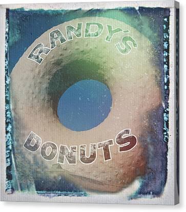 Randy's Donuts - Old Polaroid Canvas Print