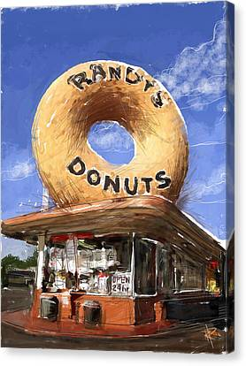 Randy's Donuts Canvas Print
