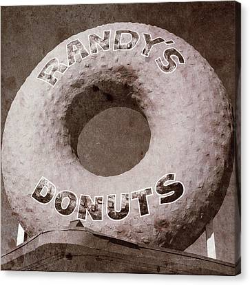 Randy's Donuts - Vintage Canvas Print by Stephen Stookey