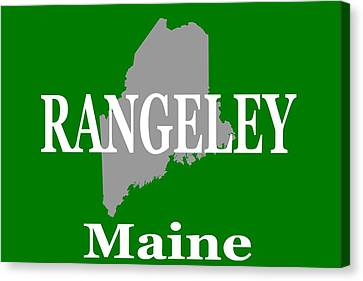 Canvas Print featuring the photograph Rangeley Maine State City And Town Pride  by Keith Webber Jr