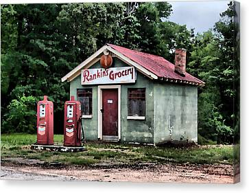Rankins Grocery In Watercolor Canvas Print