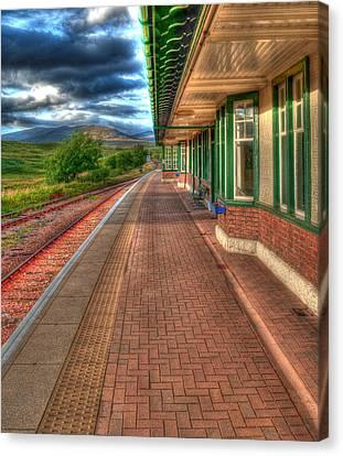 Rannoch Station Platform Canvas Print by Chris Thaxter