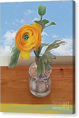 Canvas Print featuring the digital art Ranunculus Spring by Alexis Rotella