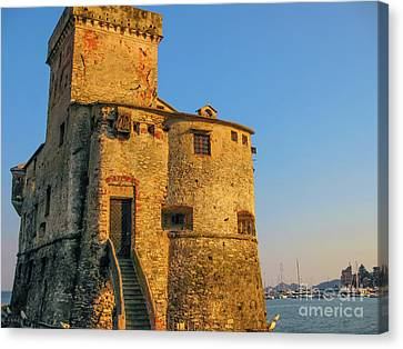 Rapallo Medieval Castle Canvas Print by Benny Marty